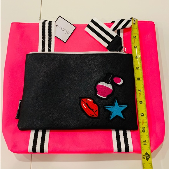 Macy S Bags Pink Tote With Makeup Bag Made For Macys